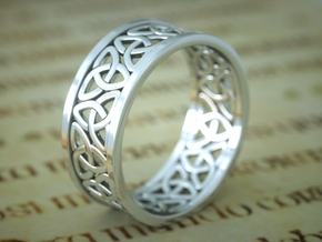 Celtic Ring in Polished Silver