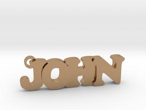 JOHN (Keychain - Pendant) in Polished Brass