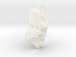 Mine pit, 20cm version, monochrome in White Natural Versatile Plastic