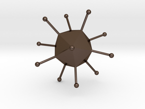 Adenovirus in Polished Bronze Steel