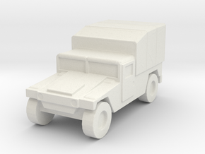 1/200 US Army M998 Canvas Humvee HMMWV Hummer H1 in White Natural Versatile Plastic