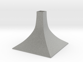 Squared Large Conical Vase in Metallic Plastic