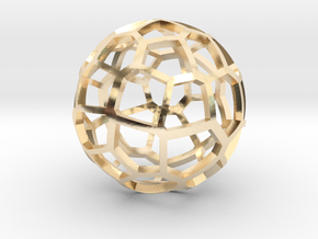 Voronoi sphere 2 in 14K Yellow Gold