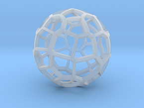 Voronoi sphere 2 in Smooth Fine Detail Plastic