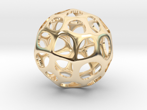 Voronoi sphere1 in 14K Yellow Gold