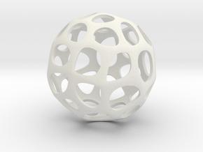 Voronoi sphere1 in White Natural Versatile Plastic