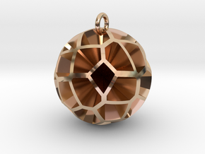 Voronoi sphere 3 in 14k Rose Gold Plated Brass