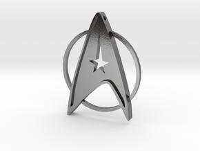 StarTrek Amulet in Polished Silver
