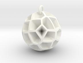 Voronoi sphere 3 in White Processed Versatile Plastic