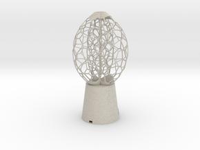 3 petal Lamp in Natural Sandstone
