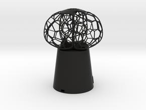 3 petal mini Lamp in Black Natural Versatile Plastic