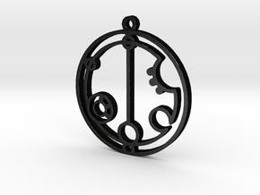 Gabrielle - Necklace in Matte Black Steel