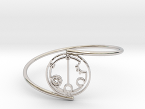 Gabrielle - Bracelet Thin Spiral in Rhodium Plated Brass