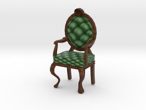 1:48 Quarter Scale PineDark Oak Louis XVI Chair in Full Color Sandstone