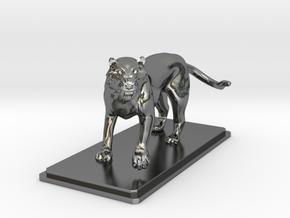 Tiger figure in Fine Detail Polished Silver