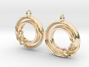 Ear-Rings-Fantasy-07 in 14k Gold Plated Brass