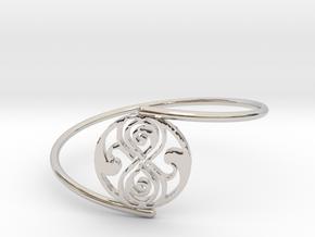 Seal of Rassilon - Bracelet Thin Spiral in Rhodium Plated Brass