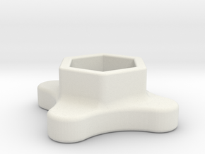 SMA Knob in White Strong & Flexible