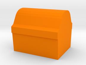 Game Piece, Treasure Chest Token in Orange Processed Versatile Plastic