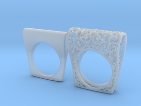 Ring Ornament in Smoothest Fine Detail Plastic