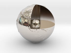 Earth with relief in Platinum