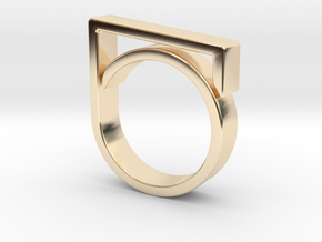 Adjustable ring for men. Model 1. in 14K Yellow Gold