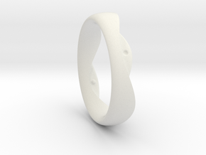 Swing Ring elliptical 19mm inner diameter in White Natural Versatile Plastic