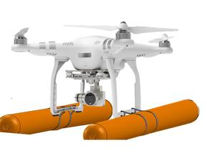 Floating Outrigging For a Drone  in White Natural Versatile Plastic