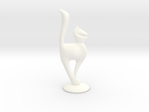 Cat-female in White Strong & Flexible Polished
