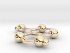 Adenine in 14k Gold Plated Brass