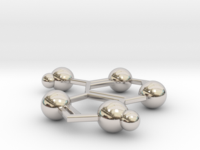 Adenine in Rhodium Plated Brass
