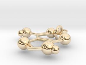 Adenine(ring added) in 14K Yellow Gold