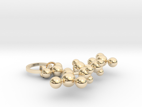 Nitroglycerin(ring added) in 14k Gold Plated Brass