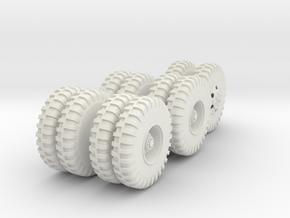 Cargo Truck Wheels(1:18) in White Natural Versatile Plastic