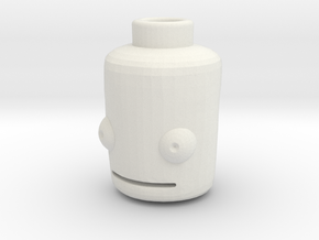 Lego Head KSP (basic with nub) in White Natural Versatile Plastic