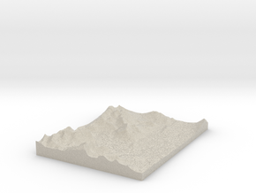 Model of Hogue Island in Natural Sandstone