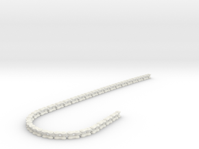 Motor Bike Chain in White Natural Versatile Plastic