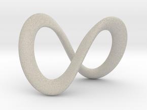 Endless-Infinite Symbol in Natural Sandstone