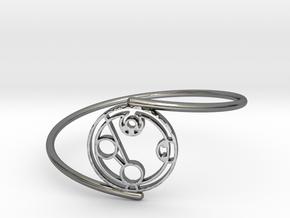 Hayden - Bracelet Thin Spiral in Premium Silver