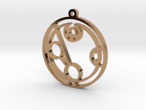 Hayden - Necklace in Polished Brass