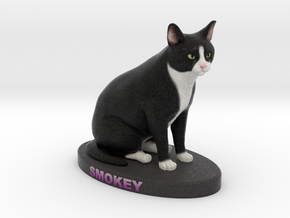 Custom Cat Figurine - Smokey in Full Color Sandstone