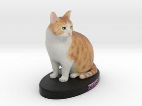 Custom Cat Figurine - Zeus in Full Color Sandstone