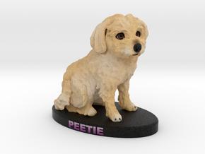 Custom Dog Figurine - Peetie in Full Color Sandstone