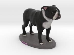 Custom Dog Figurine - Chiana in Full Color Sandstone
