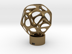 Lamp voronoi sphere1 in Polished Bronze