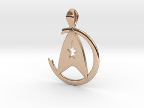 Khan Pendant - Star Trek in 14k Rose Gold