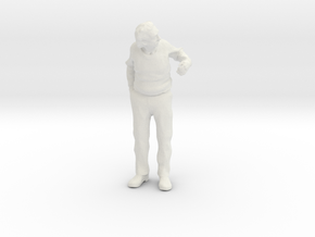 1:48 Scale Albert leaning out a door in White Natural Versatile Plastic