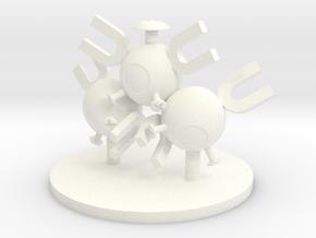 Magneton in White Processed Versatile Plastic