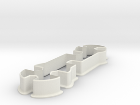 Wrench cookie cutter in White Natural Versatile Plastic