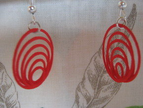 Three-Coil 1 2 Earrings in Red Strong & Flexible Polished